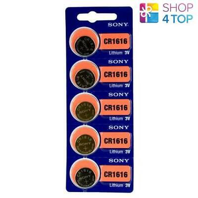 5 SONY CR1616 LITHIUM BATTERIES 3V 60 mAh CELL COIN BUTTON EXP 2028 NEW