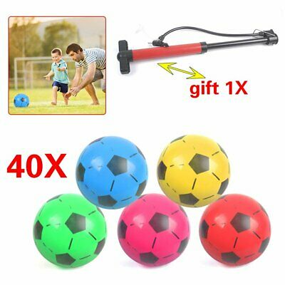 """40pcs Plastic Footballs 8.5"""" Flat-Packed Un-Inflated Soccer Baby Boys Kids Toys"""