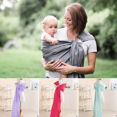Ergonomic Adjustable Infant Newborn Baby Carrier Ring Sling Wrap Backpack Pouch