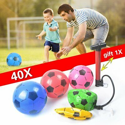 """40Pcs Pvc Plastic Footballs 8.5"""" Flat Packed Un-Inflated Free Pump Wholesale Toy"""