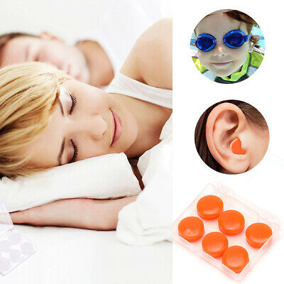 Reusable Custom Fit Soft Silicone Ear Plugs Moldable Sleeping Snoring with Case