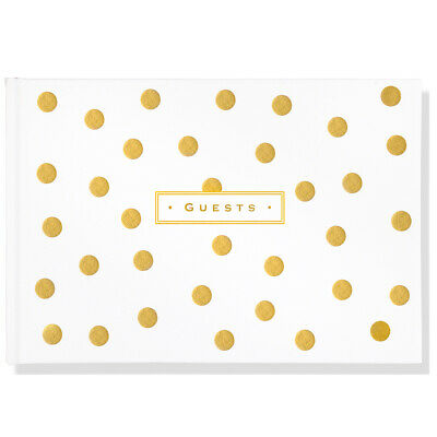 NEW Peter Pauper Press Artisan Guest Book Gold Dots Guest Book