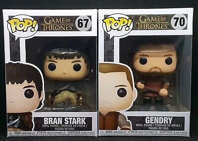 Funko Pop! Game of Thrones Lot of 2 - Gendry #70 and Bran Stark #67