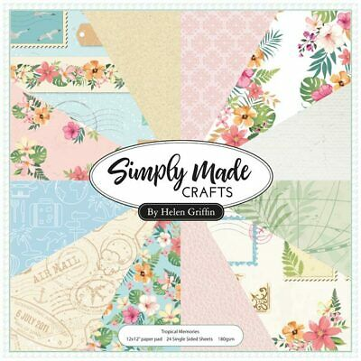 Simply Made Crafts Tropical Memories 12in x 12in Paper Pad | 24 Sheets