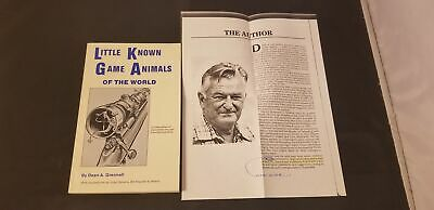 1985 1st Edition Little Known Game Animals Of The World Signed Dean A Grennell