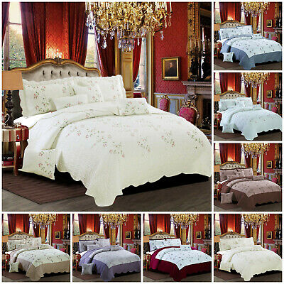 3 Piece Bedding Sets with Duvet Quilt Cover Set Pillow Cases Single Double King