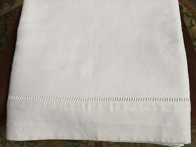 Vintage French Linen Sheet hand embroidery Ladder Fab Quality-Double-2m80x2m20