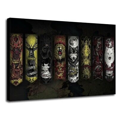 Animal collection Game of Thrones HD Canvas Print Painting Home decor Wall art