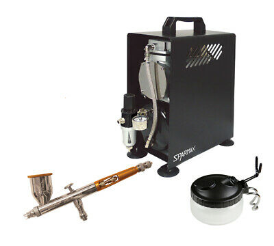 Professional Airbrushing Kit - Paasche Talon Airbrush & Sparmax 610H Compressor