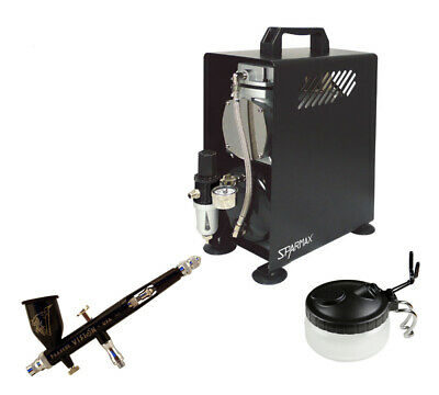 Professional Airbrushing Kit - Paasche Vision Airbrush & Sparmax 610H Compressor