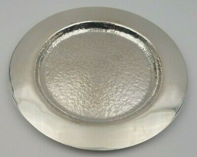 Vintage Sterling Silver Arts & Crafts Hand Hammered Serving Plate  #6628