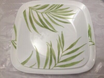Corelle Bamboo Leaf Square Dinner and Luncheon Plates