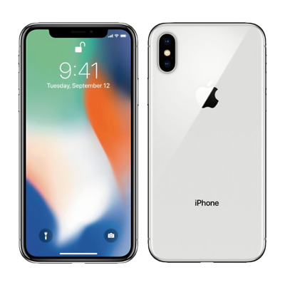 Apple iPhone X 64GB Silver Unlocked - Good