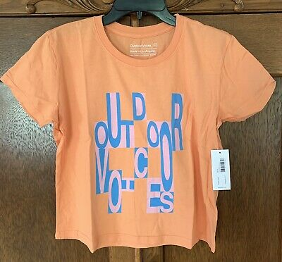 b419175400e New Outdoor Voices OV Apricot XS Womens Cropped Logo Tee Short Sleeve Tshirt
