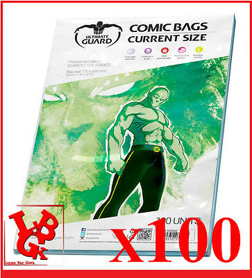 Pochettes Protection CURRENT Size comics VO x 100 Marvel Ultimate Bags # NEUF #
