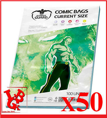 Pochettes Protection CURRENT Size comics VO x 50 Marvel Ultimate Bags # NEUF #