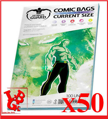 Pochettes Protection CURRENT Size REFERMABLES comics VO x 50 Marvel Bags # NEUF#