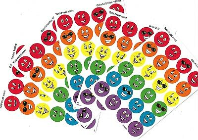 120 x scratch & sniff stickers - Tutti frutti scent - Colourful Smiles design
