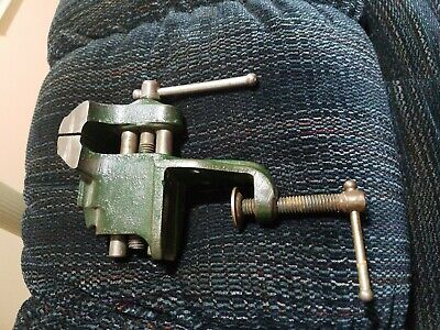 Vintage Clock Tool  Repairman mini Table Vise - unbranded