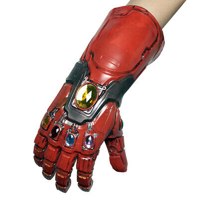 Avengers Endgame Infinity Gauntlet Mask Cosplay Iron Man Tony Stark LED Gloves