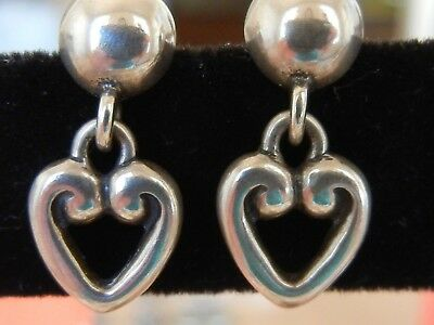 795dee240 James Avery Sterling Silver HEART DROP POST EARRINGS Adorable RETIRED in  Box GUC