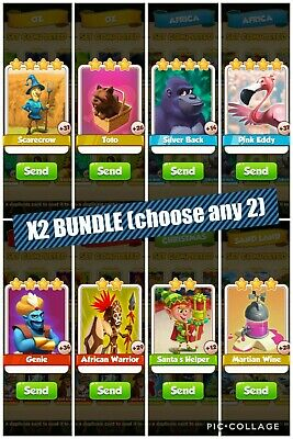 Coin Master Card  - 2x Card Super Bundle - You choose