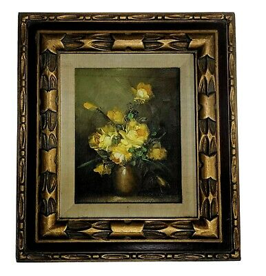 Framed and Signed Oil Painting- Robert Cox- (1934-2001) Yellow Flowers