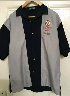 Disneyland Hollywood Tower Of Terror Promotional Bowling Shirt Very Rare M-l-xl