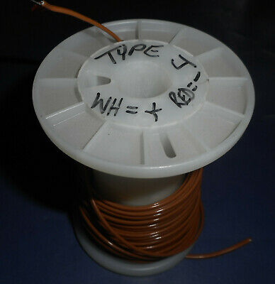 14.5 ft. coil of Type J 24 AWG Solid Thermocouple Wire