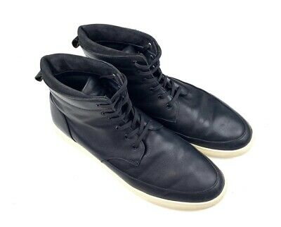 8b496b250c0 CLAE RUSSELL BLACK Canvas Leather Sneakers High-Tops Solid size 12 ...