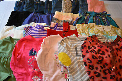Used 22 Pc. Lot Of Baby Girl Clothes 4T/4 Euc