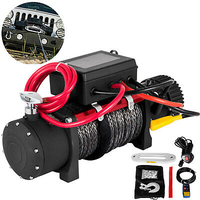 13500LBS 12V Electric Synthetic Rope Winch 6123.5kg Recovery SingleLine PRO
