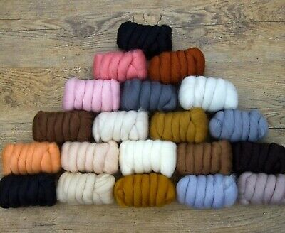 20 Color Assortment 100% Merino Wool/Combed Top/Roving 500 grams-Cuddly Critters