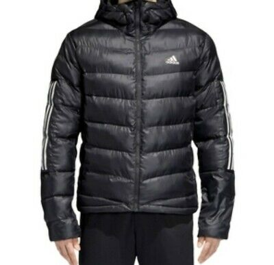 d2ff8c73a ADIDAS MENS ITAVIC 3 Stripe Jacket Puffer Coat Top Long Sleeve ...