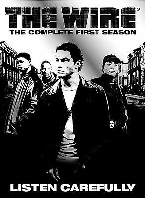 The Wire - The Complete First Season (DVD, 2004, 5-Disc Set) HBO TV Show SEALED