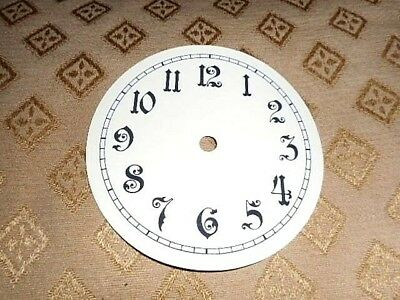 Round Paper Clock Dial- 125mm M/T- Ornate Arabic- MATT WHITE-Face/Parts/Spares #