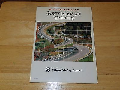 Rand McNally Safety Interstate Road Atlas United States Canada Mexico - Used/GC