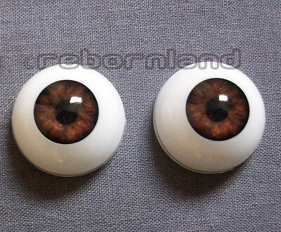 Half Round Reborn Doll Optical Acrylic Eyes -Dark Brown- 16Mm, 18Mm, 20Mm, 22Mm