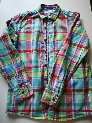TED BAKER Boys Shirt | CHECK MULTI | long sleeved | Age 14 yrs| Excellent
