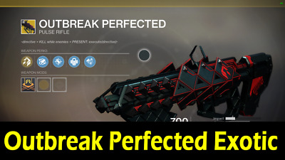 Destiny 2 Obtaining The Outbreak Perfected Exotic Pulse Rifle - Full Quest (PS4)