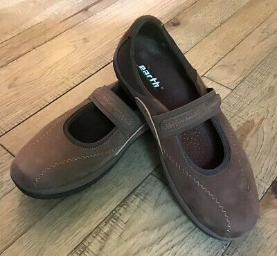 4f16216190 EARTH Shoes 8 Kalso Technology Negative Heel Support Comfort Brown Mary  Janes