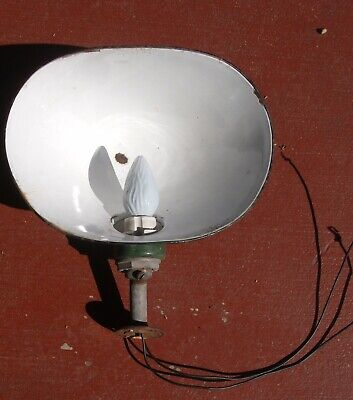 antique barn light fixture angled porcelain direct from the barn