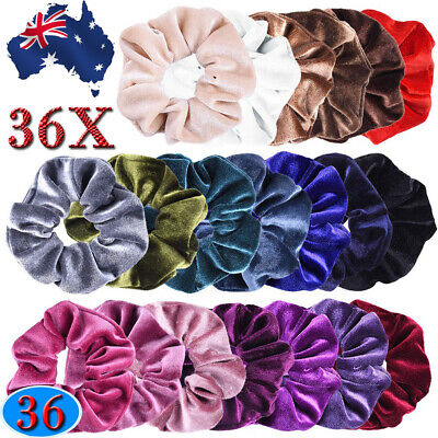 36X Velvet Scrunchies Ponytail Women Hair band Elastic Hair Bands Scrunchy Girls