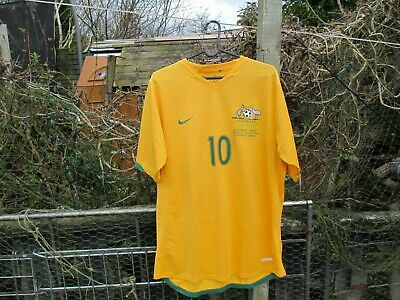 Nike Australia World Cup 2006 (v Croatia Detail) Football Shirt (L) #10 Kewell