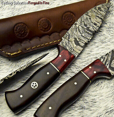 Cutlery Salvation Handmade Damascus Steel Blade  Full Tang Knife | Walnut Wood
