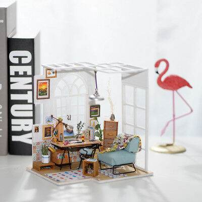 ROBOTIME DIY Dollhouse with Furniture Miniature Birthday Gift for Girlfriend