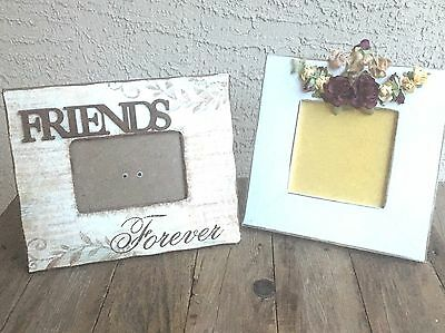 Picture Frame Frames Lot of 2 Friends Picture Frame And Flower Home Decor Two