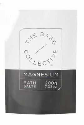 3X THE BASE COLLECTIVE Magnesium Bath Salts 200g - For Tired, Aching Muscles