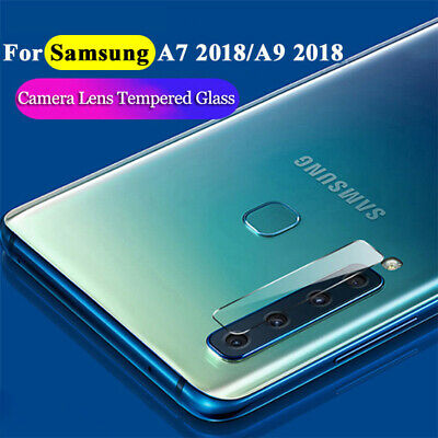 For SAMSUNG GALAXY A7 / A9 2018 TEMPERED GLASS BACK REAR CAMERA LENS COVER /MA