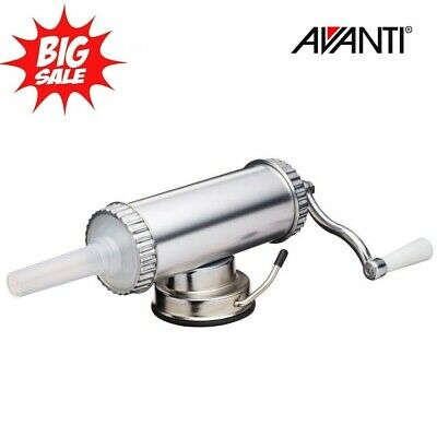 NEW AVANTI 1KG Aluminium Sausage stuffer Maker Machine With 3 Nozzles!